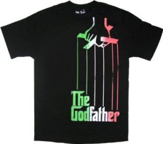 The Godfather Italian Flag Colors Puppeteer Black T Shirt Tee Clothing