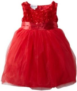 Blueberi Boulevard Baby Girls Infant Roxy Dress, Red, 24 Months Clothing