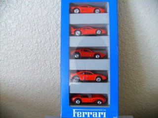 Hot Wheels Ferrari 5 Car Gift Pack 1994 All Color Red ferrari Testarossa, Ferrari F40, Street Beast, Ferrari 348, Ferrari 250 Toys & Games