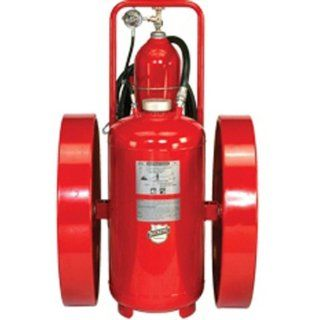 "Buckeye 32230 Pressure Transfer Standard Dry Chemical Fire Extinguisher with Steel Wheels and Rubber Treads, 350 lbs Agent Capacity, 24"" Width x 50"" Height x 42"" Depth Science Lab Emergency Response Equipment"