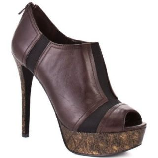 Jessica Simpson Women's 'Ray' Peep Toe Pump (8M, Dark Brown Spider Dull) Jessica Simpson Shoes