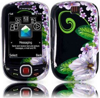 Green Flower Hard Case Cover for Samsung Smiley T359 Elevate T356 Cell Phones & Accessories
