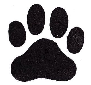 "Dog Rubber Stamp   Paw Print Large 358F (Size 1 7/8"" Wide X 1 3/4"" Tall)"