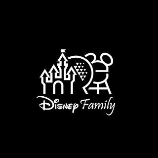 "Disney Family #2 Car Window Decal Sticker White 5"" Automotive"