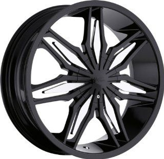 MILANNI   368 stalker   20 Inch Rim x 7.5   (5x112/5x4.5) Offset (35) Wheel Finish   black & chrome Automotive