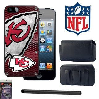 iPhone 5 Kansas City Chiefs NFL Team Snap on Cover with Case that fits the Phone with the Cover on it, Stylus Pen and Radiation Shield. Cell Phones & Accessories