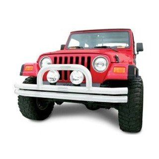 Bumper, Front With Center Hoop Chrome 1997 2006 Jeep Wrangler TJ, Unlimited # 372 120 Automotive