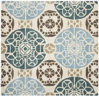 Safavieh WYD376A Wyndham Collection Square Area Rug, 7 Feet, Beige