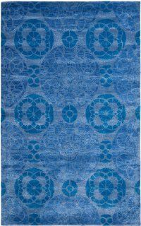 Safavieh WYD376E Wyndham Collection Area Rug, 8 Feet 9 Inch by 12 Feet, Blue