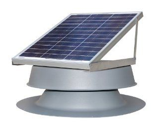 Solar Attic Fan   30 Watts   2500 sq ft   Black  Solar Panels  Patio, Lawn & Garden