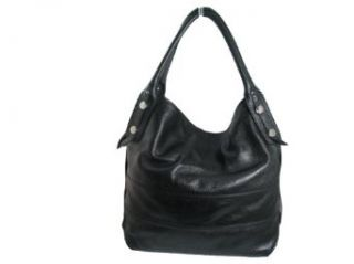 Gironacci Women's Italian Leather hobo Bag style 381 Black Clothing