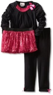 Little Lass Girls 2 6x 3 Piece Tutu Set With Bow Detail, Black/Pink, 5 Clothing