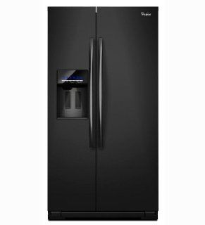 Whirlpool WSF26C2EXB 26.4 Cu. Ft. Black Side By Side Refrigerator   Energy Star Appliances