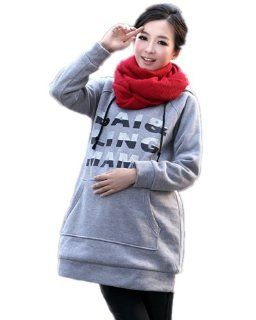 Maternity/Pregnant Women Winter New Casual Thick Velvet Hooded Sweater (M, Purple) Baby
