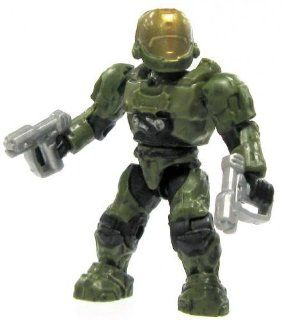 Halo Wars Mega Bloks LOOSE Mini Figure UNSC Green EVA Spartan with Twin Magnums Toys & Games