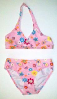 Girls Lt Pink/Flowers Two Piece Bikini Swimsuit by In Gear. Sizes 4/5 to 14/16. Clothing