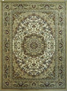 Traditional Ivory Rug #401 Bellagio (6 Feet X 9 Feet)   Area Rugs
