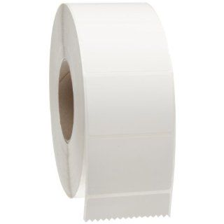 "Brady THT 19 402 3 3"" Width x 2"" Height, B 402 Paper, Matte Finish White Thermal Transfer Printable Label (3000 per Roll)"