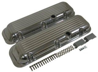1965 95 Chevy Big Block 396 427 454 502 Short Polished Aluminum Valve Covers   Ball Milled Automotive