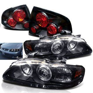 Rxmotoring 2000 2003 Nissan Sentra Headlights Projector + Tail Light Automotive