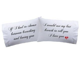 Set of 2 I Love You Pillowcases Super Soft Pillowcases romantic Valentines Gifts for Couples, Cute Valentine Day Gift Idea   Couples Pillows