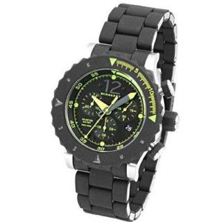 New Burberry Antartic Men's Chronograph Steel & Black Rubber Bracelet Watch Bu7660 Sports & Outdoors
