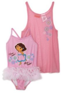 Dora the Explorer Girls 2 6x 2 Pc Swim Set, Pink, 2T Clothing