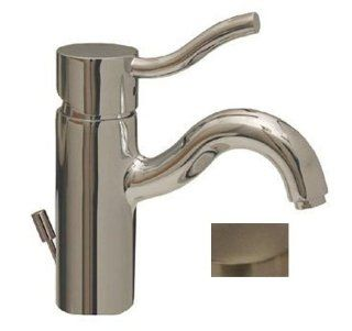 "Whitehaus 34440BN 5"" Venus single hole/single lever lavatory faucet with popup waste Brushed Nickel"