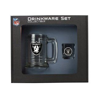 Oakland Raiders Shot Glass and Mug Set   Etching Personalized Gift Item Kitchen & Dining