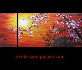 Cherry Blossom Abstract Modern Oil Painting Hand Painted Canvas Wall Art Framed 422