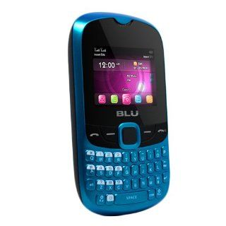 BLU Q41 BLUE Charleston Unlocked Dual SIM Quad Band GSM Phone with QWERTY Keypad, Video Recorder and MicroSD Card Slot   US Warranty   Blue Cell Phones & Accessories