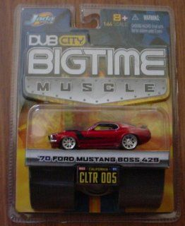 Jada Big Time Muscle Red 1970 Ford Mustang Boss 429 164 Die Cast Car Toys & Games