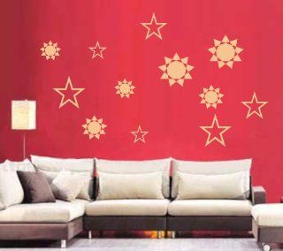 Large  Easy instant decoration wall sticker wall mural decor Abstract Star   Home Decor Products