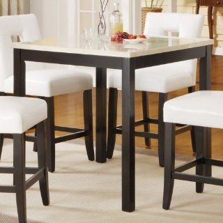 Counter Height Table in Faux Marble Top of Archstone Collection by Homelegance   Dining Tables