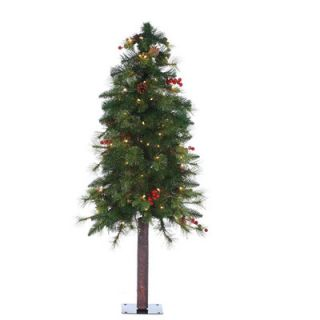Vickerman Flocked Pacific Pine 5.5 White Artificial Pencil Christmas