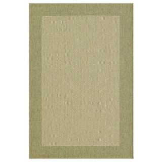 Direct Home Textiles Four Seasons Sage Green/Natural Simple Border Rug