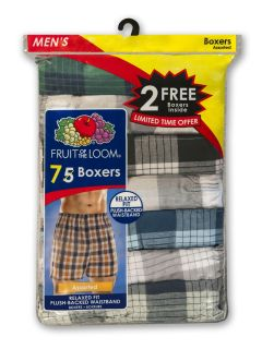 Fruit of the Loom Mens Plaid Boxers   Assorted 5 Pack   Clothing   Mens   Underwear