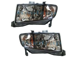2006 2007 2008 Honda Ridgeline Pickup Truck Headlight Headlamp Composite Halogen Front Head Light Lamp Pair Set Right Passenger And Left Driver Side (06 07 08)