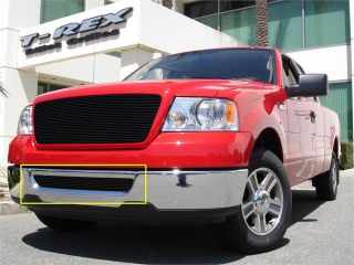 T REX 2006 2008 Ford F150 (All Models) Bumper Billet Grille Insert   All Black BLACK 25555B