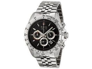 Bulova Men's Marine Star Chronograph Black Dial Stainless Steel