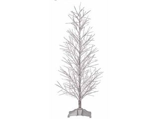 2' Pre Lit Battery Operated Silver Fiber Optic Christmas Twig Tree   Multi