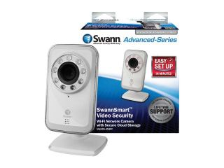 Swann SWADS 450IPC US 640 x 480 MAX Resolution RJ45 SwannSmart Wi Fi Network Camera with Secure Cloud Storage