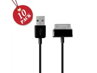 Samsung Galaxy Note/Tab 30 Pin Connector   High Quality USB Charge And Sync Data Cable ( USB To 30 Pin )   Pack Of 10 Pcs In Black Color