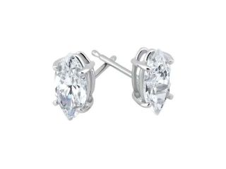 1/2 CT Fancy Marquise Cut Diamond Studs 14K White Gold Womens Matching Earrings