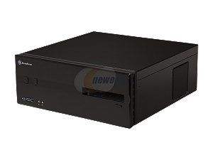 SILVERSTONE Black Aluminum / Steel Lascala Series SST LC10B E USB3.0 ATX Media Center / HTPC Case