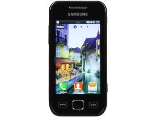 Samsung Wave525 Black Unlocked GSM Touch Screen Phone w/ Wi Fi / Bluetooth 3.0 / 3.15MP Camera (S5250)