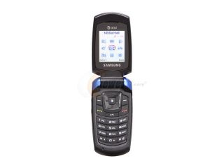 Samsung Blue Unlocked GSM Flip Phone with Speaker Phone / Store Photos Wirelessly (SGH A167)