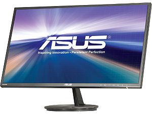 "ASUS VN247H P Black 23.6"" 1ms (GTG) HDMI Widescreen LED Backlight LCD Monitor 250 cd/m2 80,000,000:1 Built in Speakers"