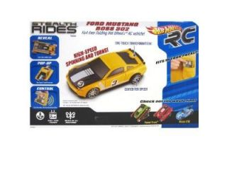 Hot Wheels RC Stealth Rides Racing Car   Yellow Ford Mustang Boss 302