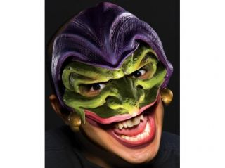 Scary Joker Evil Jester Vinyl Halloween Costume Mask